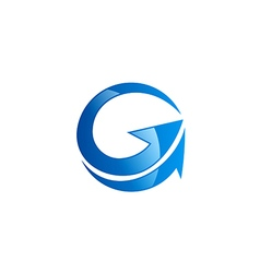 G letter arrow abstract logo vector image