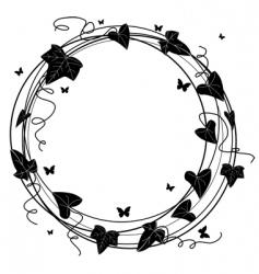 ivy frame vector image