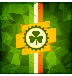 Saint Patricks Day abstract grunge background vector image