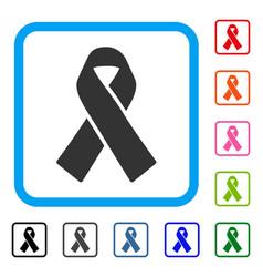 solidarity ribbon framed icon vector image vector image
