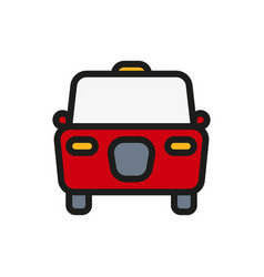 taxi icon on white background vector image vector image