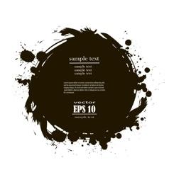 banner spot of black paint vector image