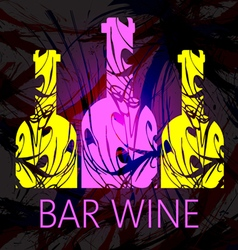 Bar wine and tasting card vector image vector image