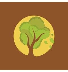Full moon tree vector image vector image