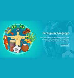 brazil banner horizontal cartoon style vector image vector image