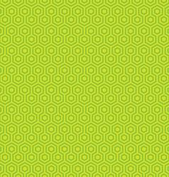 Geometric hexagon seamless patterns vector image