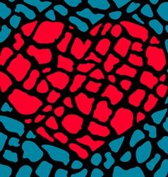 heart broken parts vector image vector image