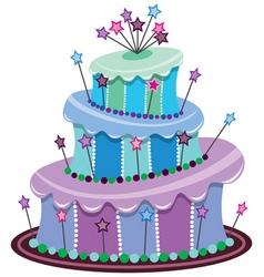 vector big birthday cake vector image vector image