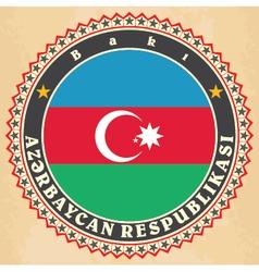 Vintage label cards of Azerbaijan flag vector image vector image