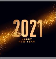 2021 happy new year shiny sparkles background vector