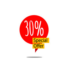30 special offer template design vector