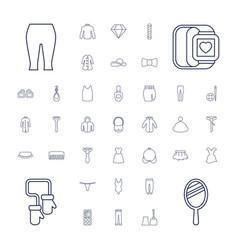 37 fashion icons vector