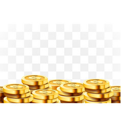 a lot coins on transparent background jackpot vector image