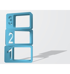 Abstract 3d numbered frames infographic element vector