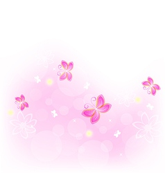 abstract nature background with butterfly vector image