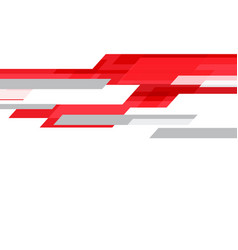 abstract red technology geometric speed on white vector image
