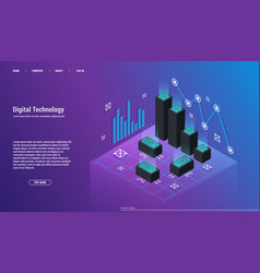 analysis and investment data visualization vector image