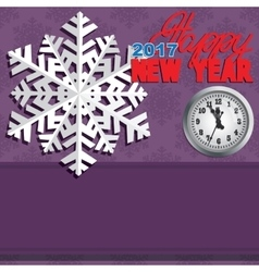 Background composed of winter snowflakes vector image