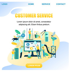 banner people customer support worker vector image