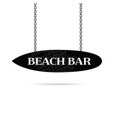 beach bar sign vector image