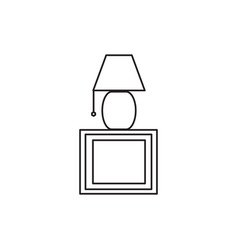 bedside lamp icon vector image