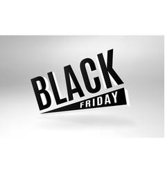 black friday 3d design banner vector image vector image