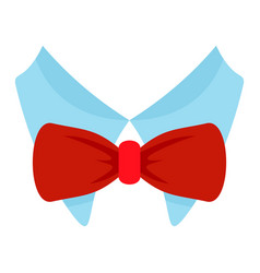 bow tie shirt icon flat style vector image