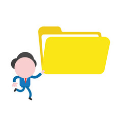 businessman character running and holding open vector image