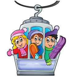 Cable car theme image 1 vector
