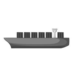 Cargo ship icon gray monochrome style vector