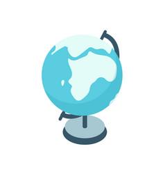 cartoon colorful earth globe graphic vector image