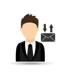 Character man with email mail design vector