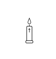church candle icon vector image