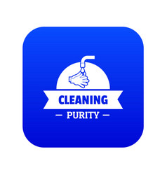 Cleaning purity icon blue vector