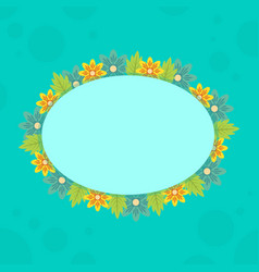 collection of frame with spring flower vector image