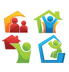 concept of happy loving home vector image
