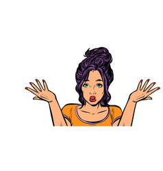Confused woman gesture isolate on white background vector