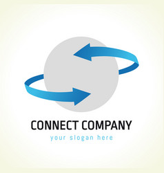 connect logo vector image
