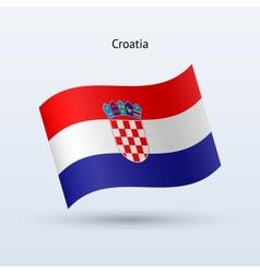 Croatia flag waving form vector
