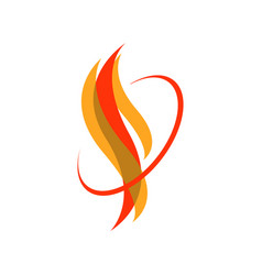 Custom hot fire flames logo icons in white vector