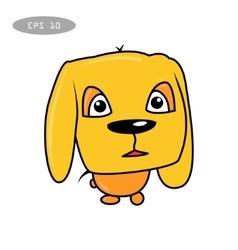 Cute fun dog cartoon vector
