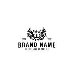 Design logo letter w vintage style vector
