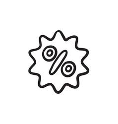 Discount tag sketch icon vector