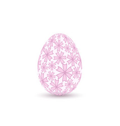 easter egg 3d icon pink color egg isolated white vector image