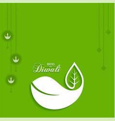 Eco or green diwali greeting vector