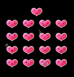 Emoticons heart gradient 12 vector