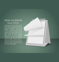 Flying blank pages of table calendar vector