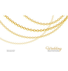 Gold chain necklace luxury jewelry background vector