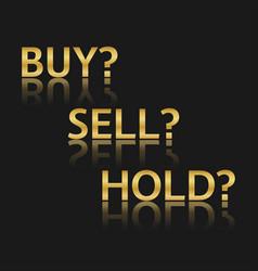 Golden trade icons stock market options three vector