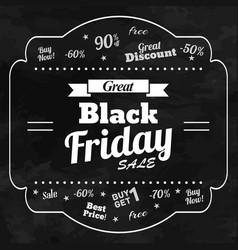 Great sale in black friday chalkboard background vector